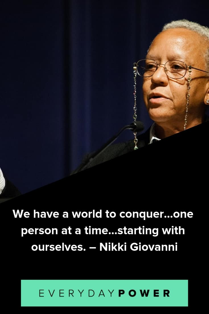 Nikki Giovanni quotes that will make you think outside the box