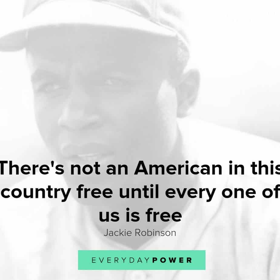 Jackie Robinson quotes celebrating civil rights and equality