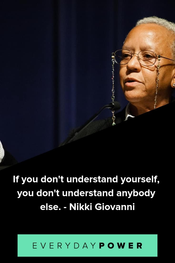 Nikki Giovanni quotes celebrating poetry and the human spirit