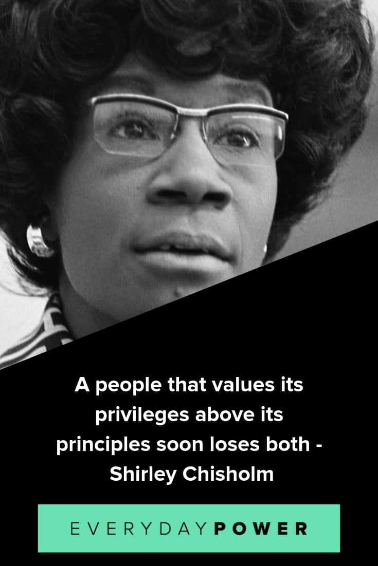 thought-provoking Shirley Chisholm quotes