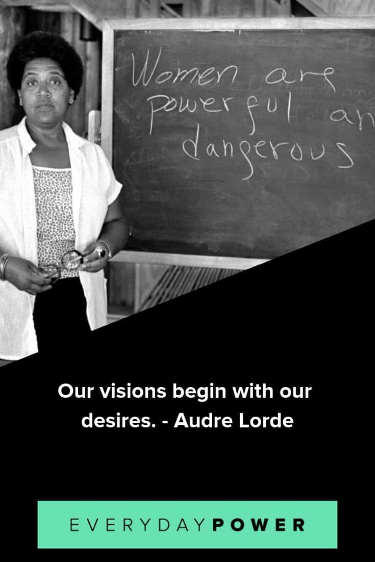 inspirational Audre Lorde quotes