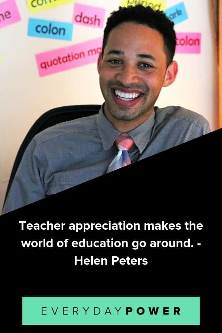 Teacher appreciation quotes that honor and respect all educators