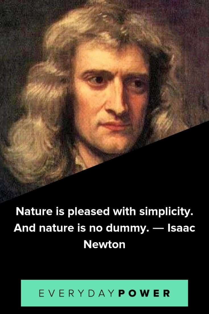 Isaac Newton quotes to inspire and teach