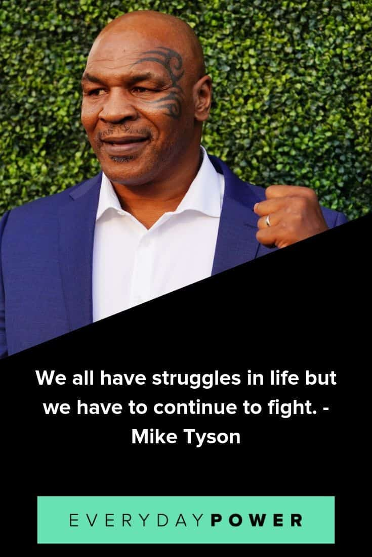Mike Tyson quotes on winning and confidence