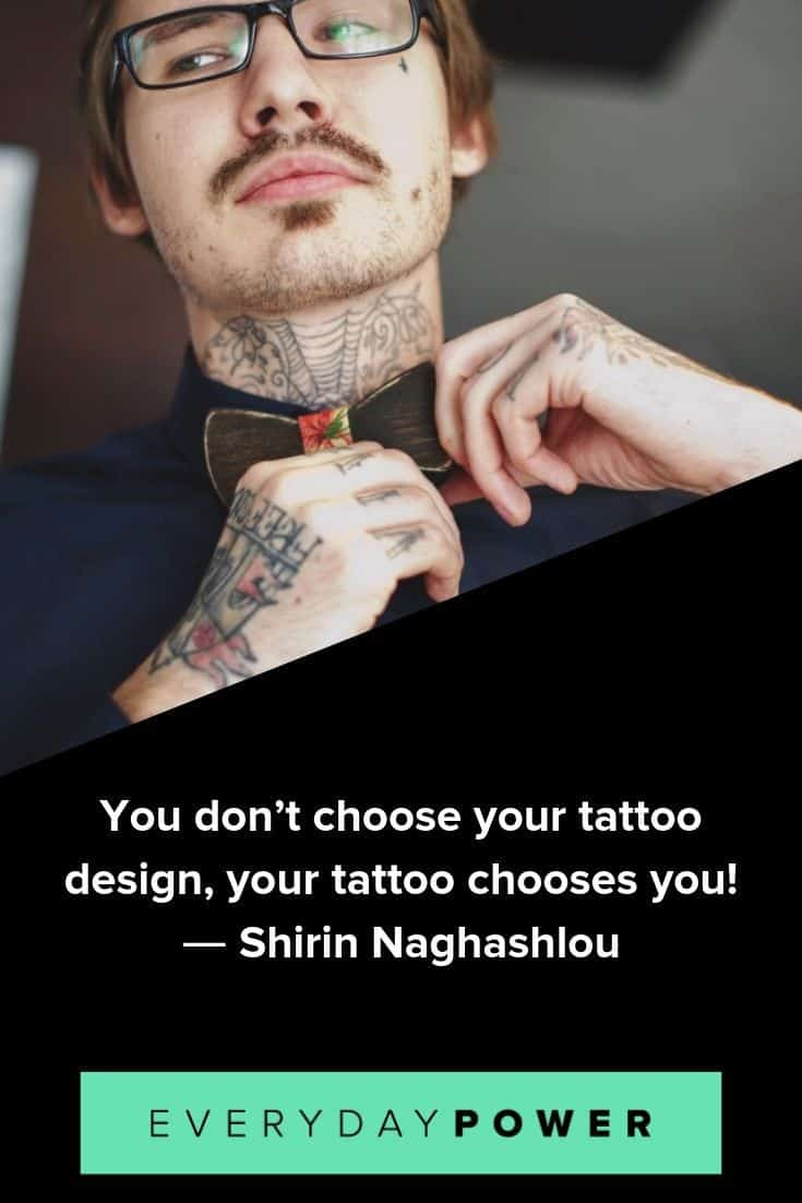 Tattoo quotes to honor self expression