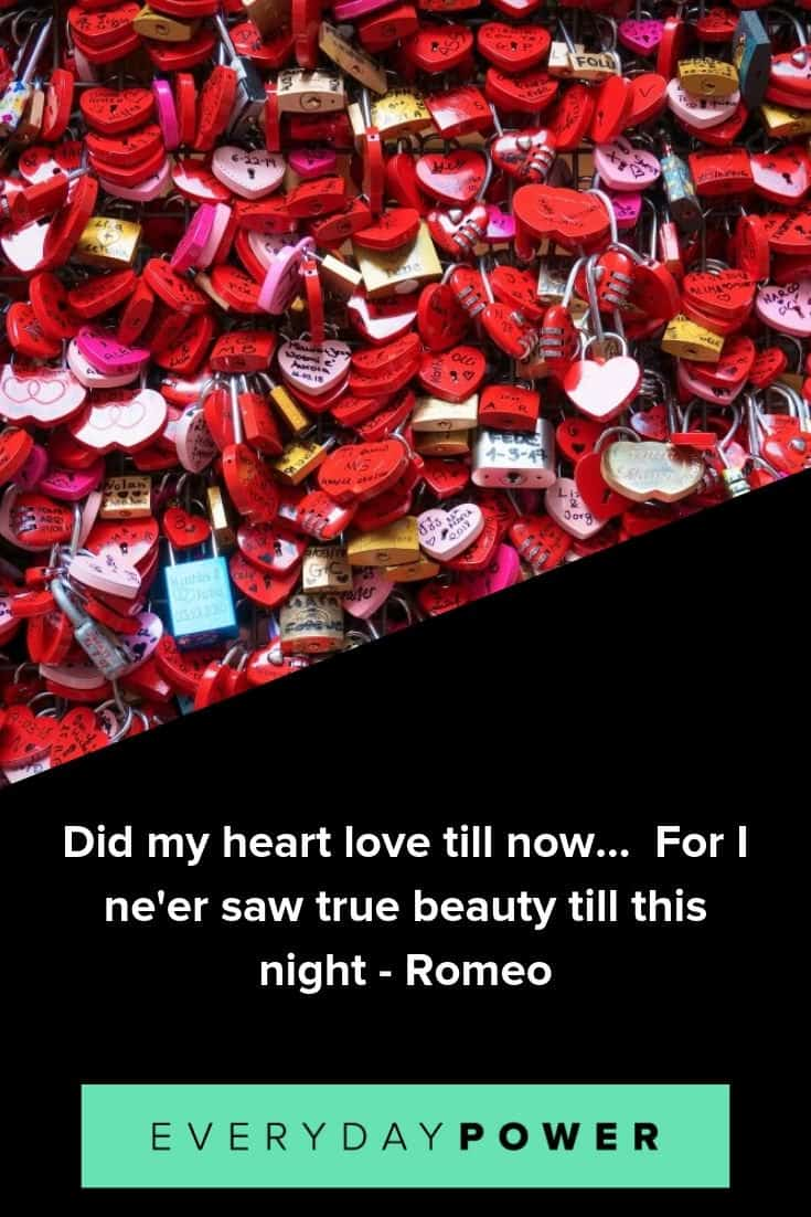 Romeo and Juliet quotes on the powerful nature of love
