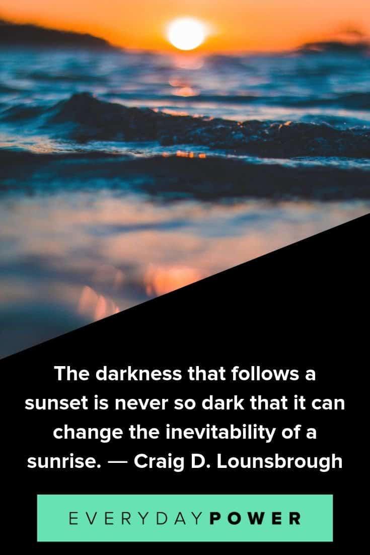 Sunset quotes celebrating nature's beauty