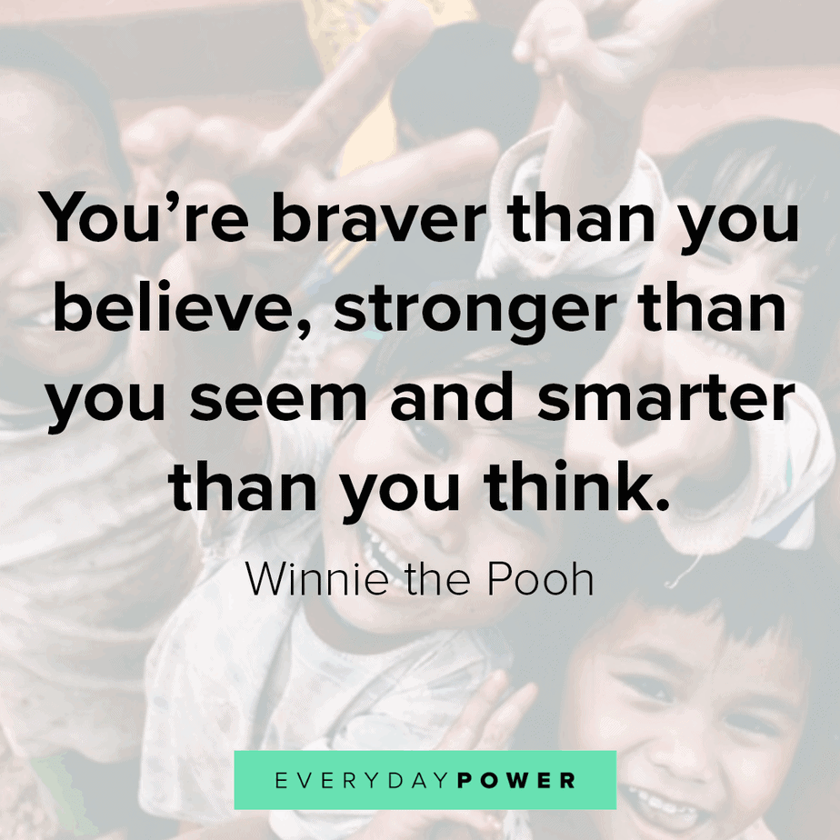 Winnie the Pooh quotes on being brave