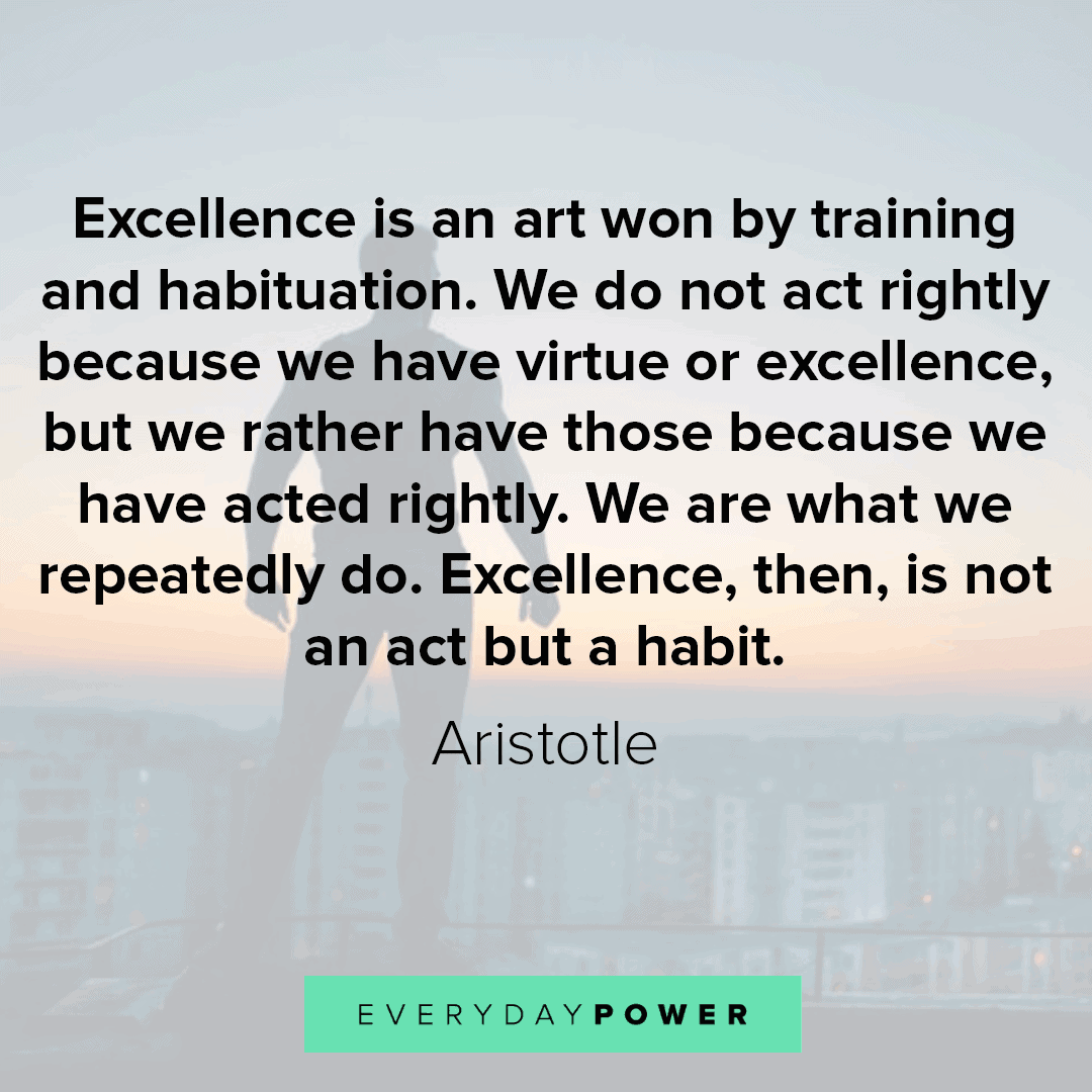 monday motivation about excellence