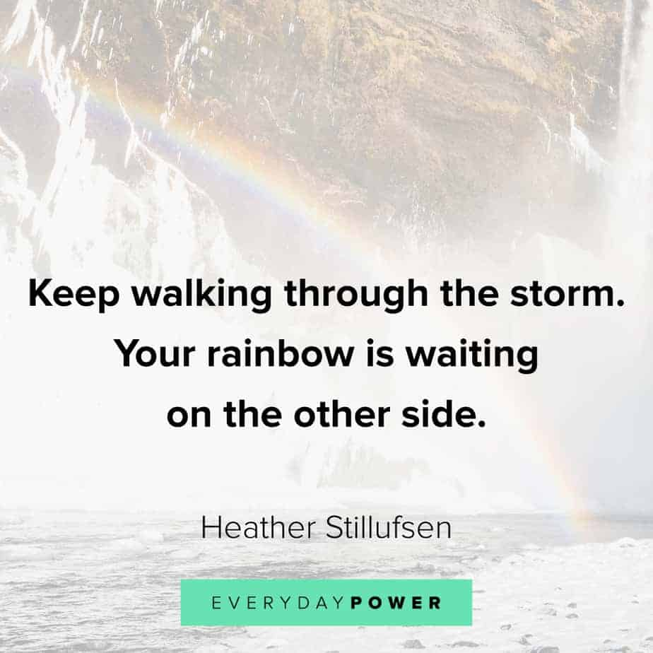 Anxiety Quotes on walking through the storm