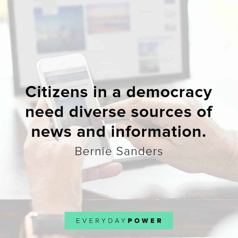 Bernie Sanders quotes on democracy
