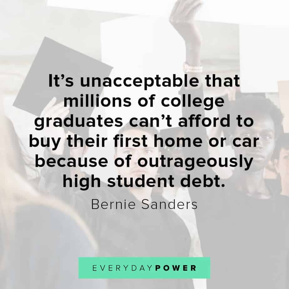 Bernie Sanders quotes on debt