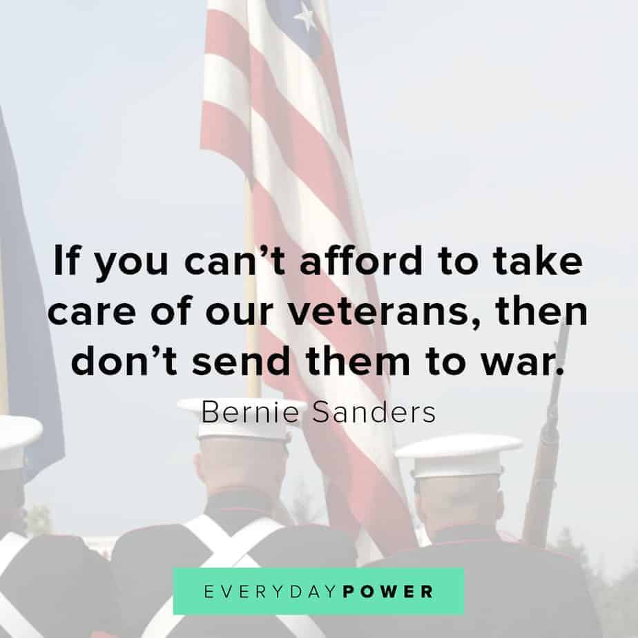 Bernie Sanders quotes on veterans