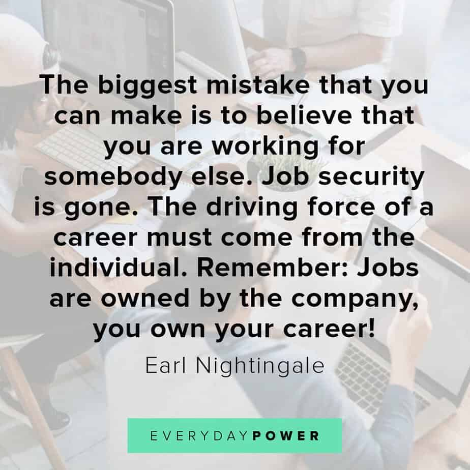 Earl Nightingale Quotes on mistakes