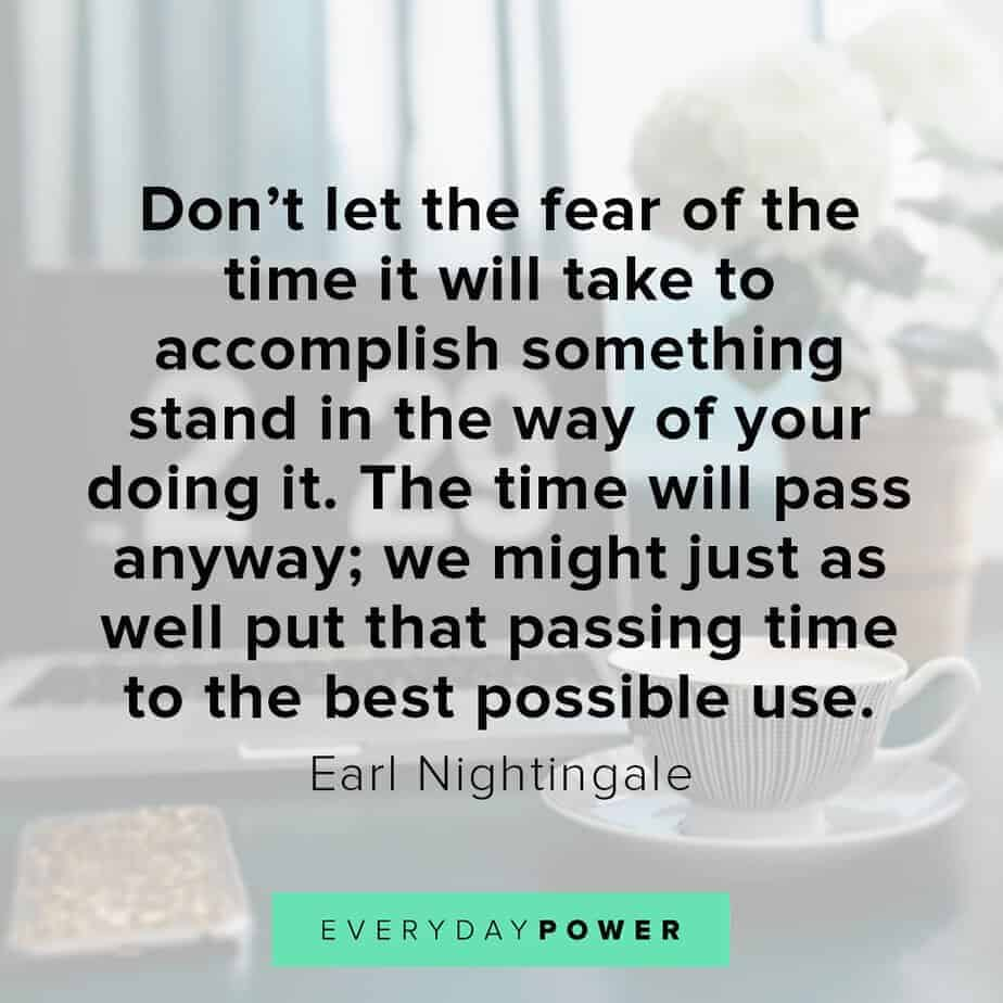 Earl Nightingale Quotes on fear