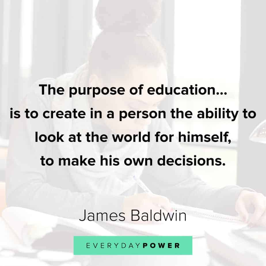 James Baldwin quotes on education