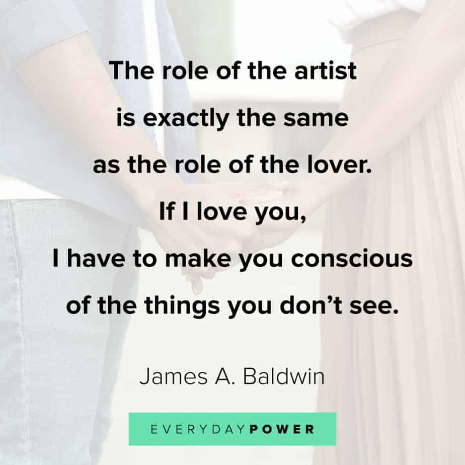 James Baldwin quotes on art