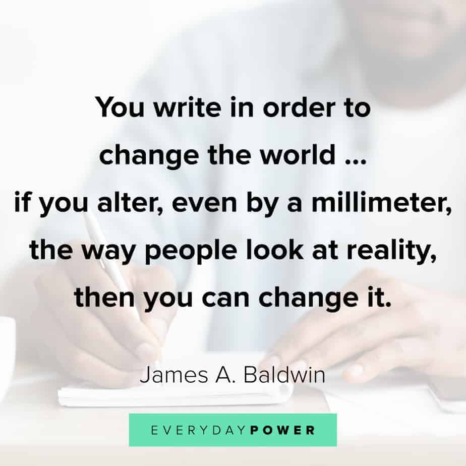 James Baldwin quotes on writing