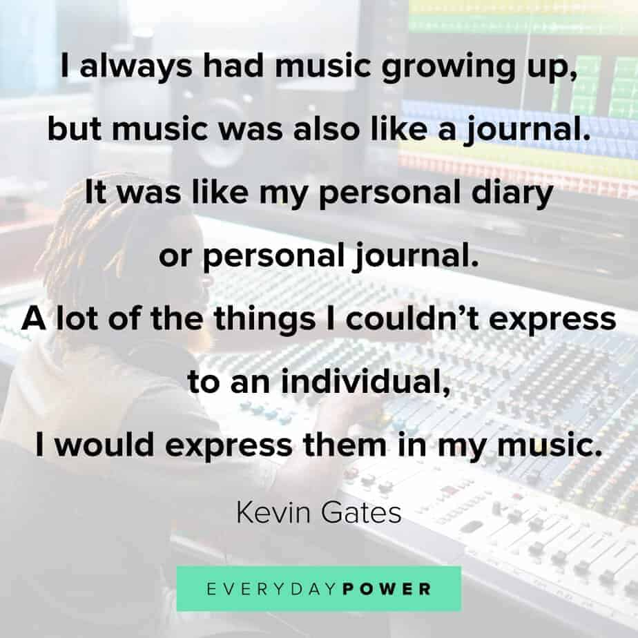 Kevin Gates Quotes on growing up