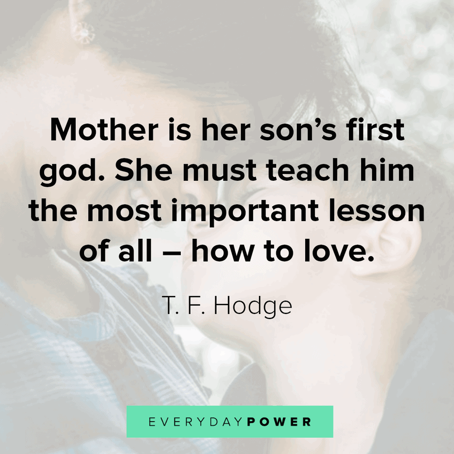 mother and son quotes to inspire and teach