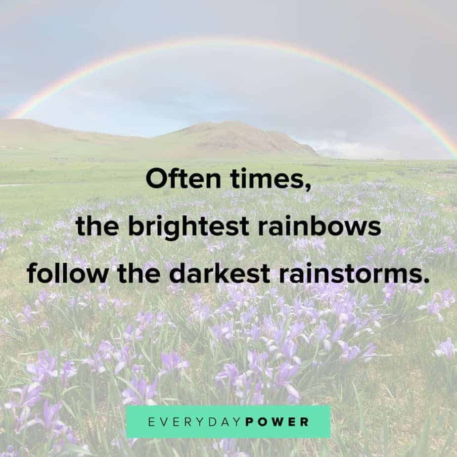 Rainbow quotes about rainstorms