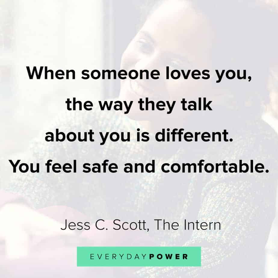 Relationship Quotes on feeling comfortable