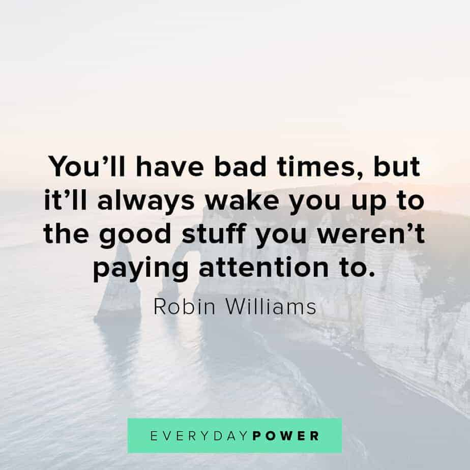 Robin Williams quotes on paying attention