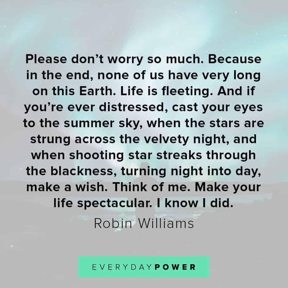 Robin Williams quotes on shooting stars