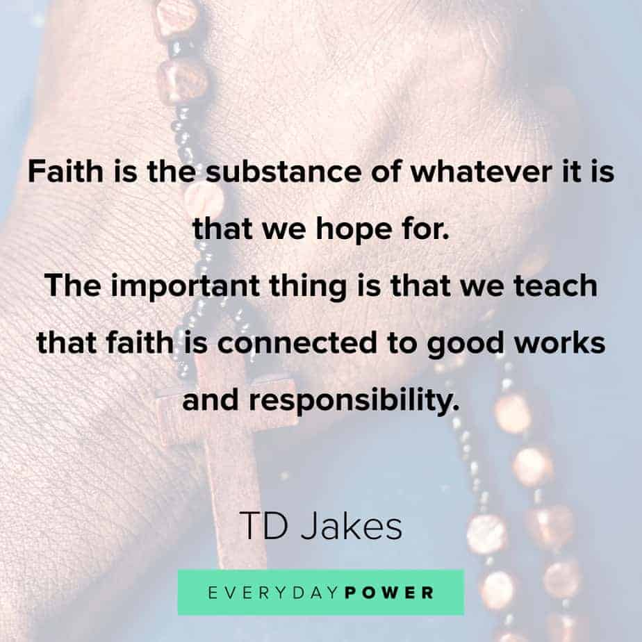 TD Jakes Quotes about faith