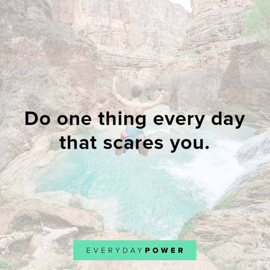 Thursday Quotes about what scares us