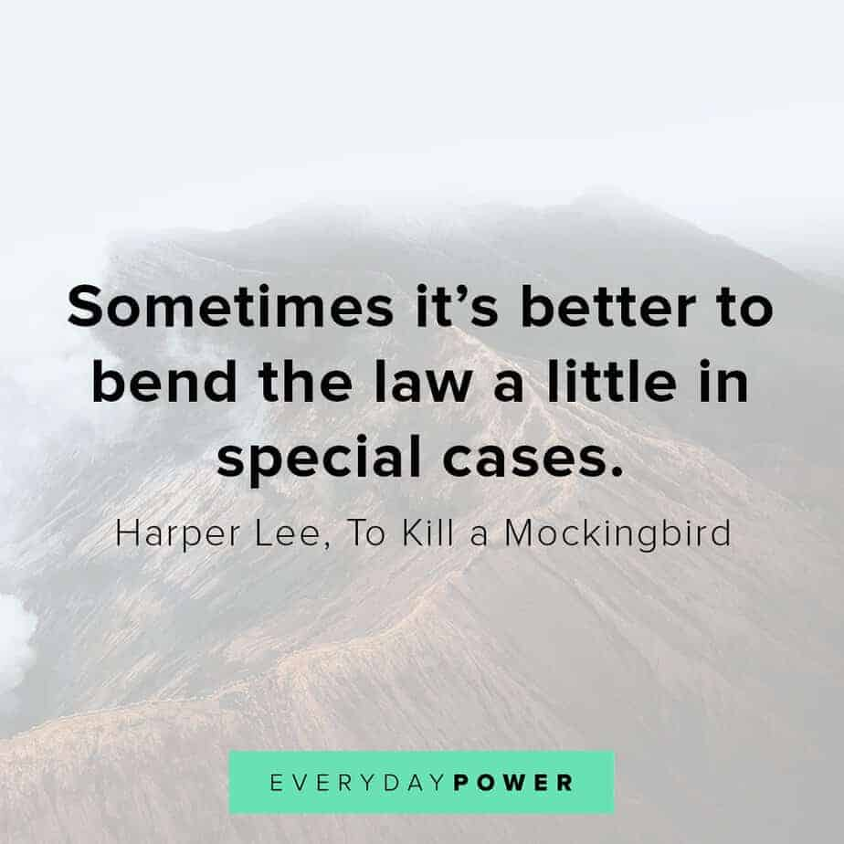 To Kill a Mockingbird Quotes on bending the law