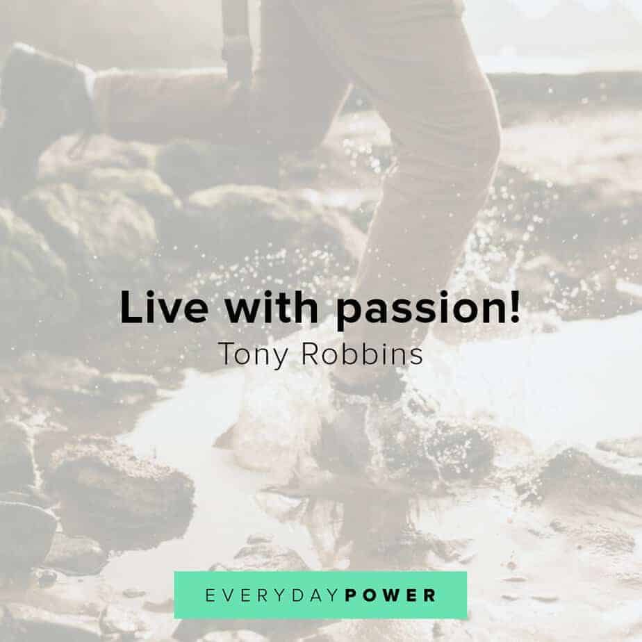 Tony Robbins quotes on passion