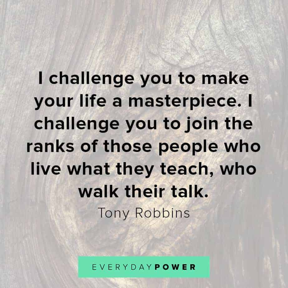 Tony Robbins quotes on challenges