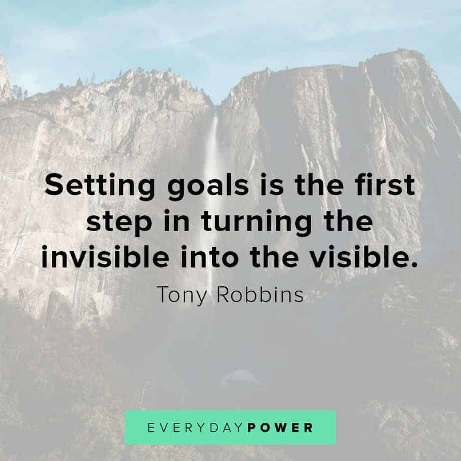 Tony Robbins quotes on setting goals