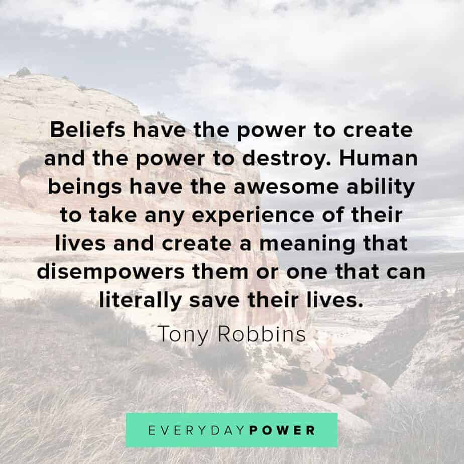 Tony Robbins quotes on beliefs