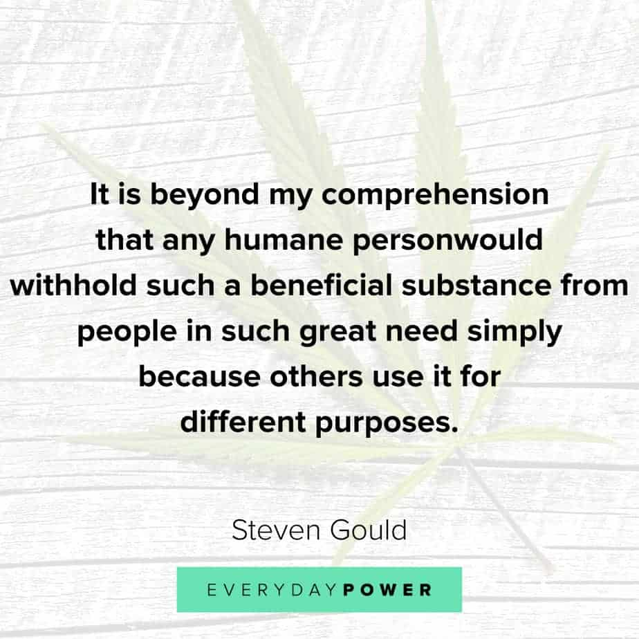 Weed Quotes about purpose