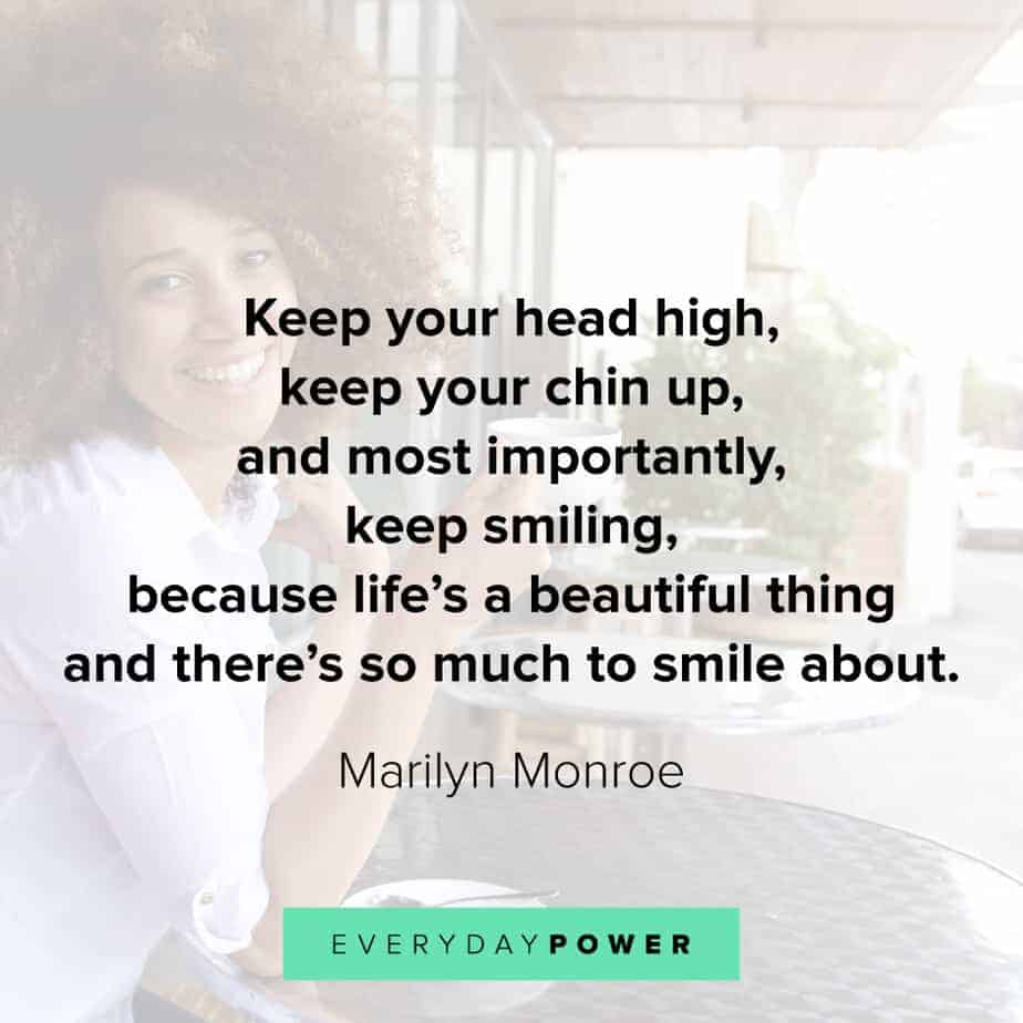 Wednesday Quotes on keeping your head high