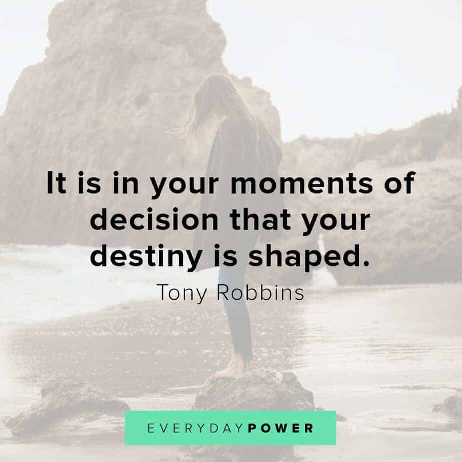 Tony Robbins quotes on destiny