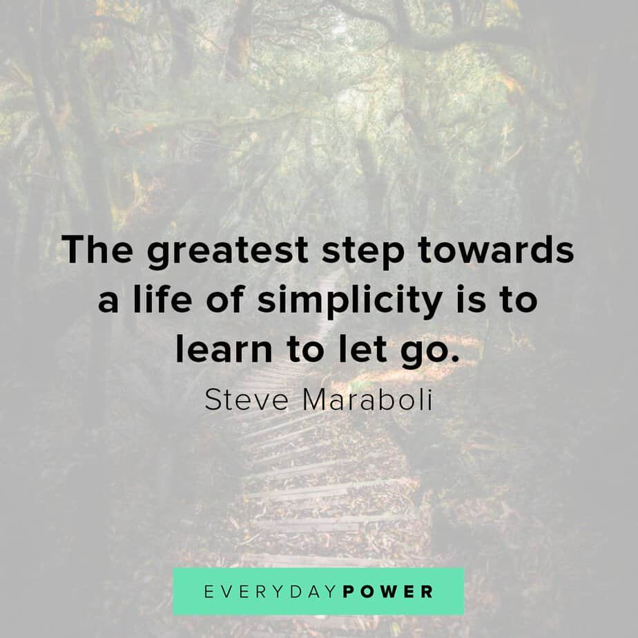 letting go quotes about simplicity
