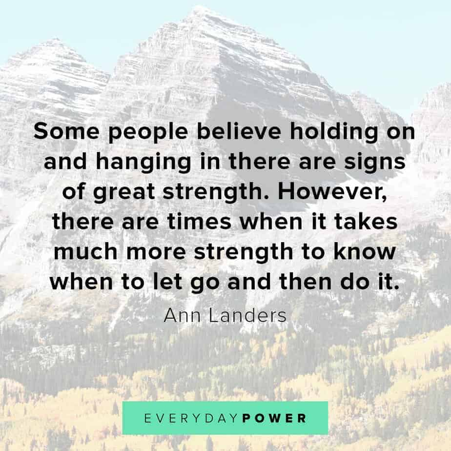letting go quotes about hanging on