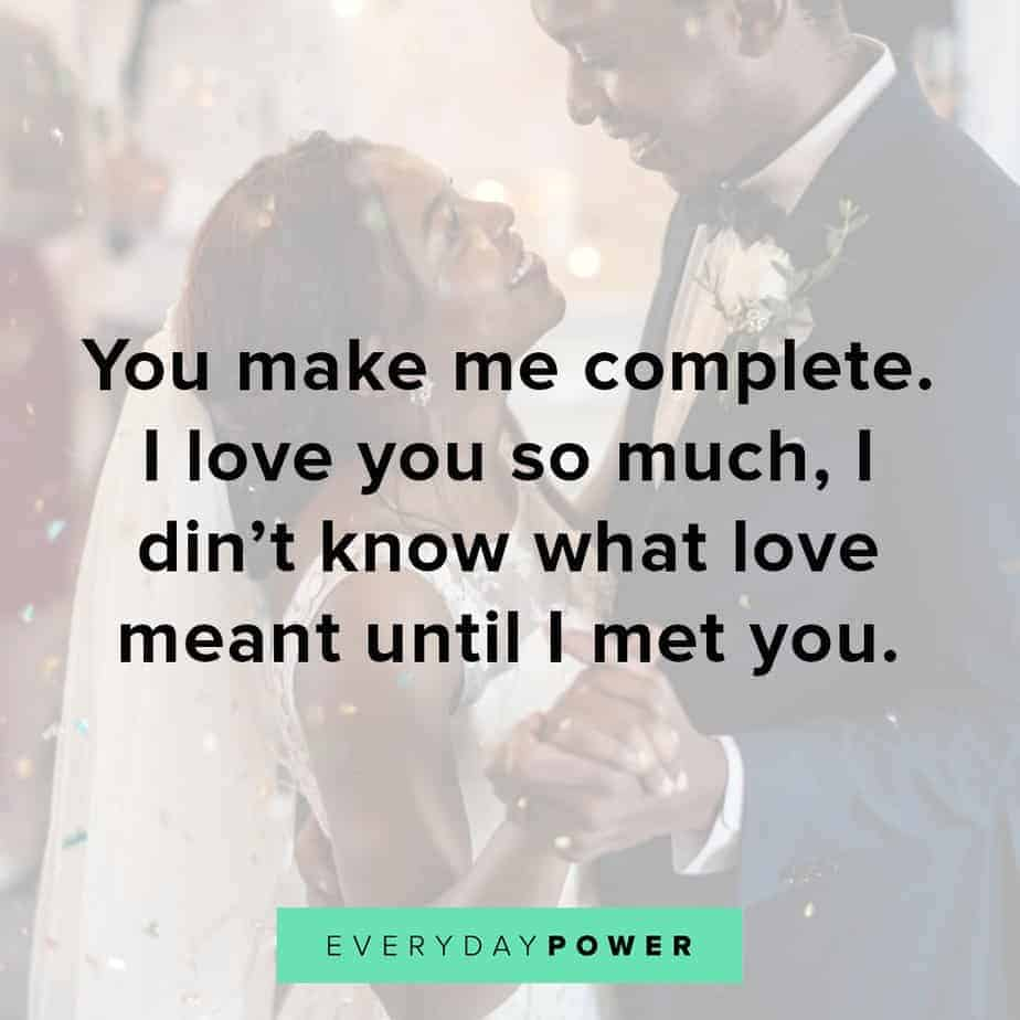 love quotes for your husband about being complete