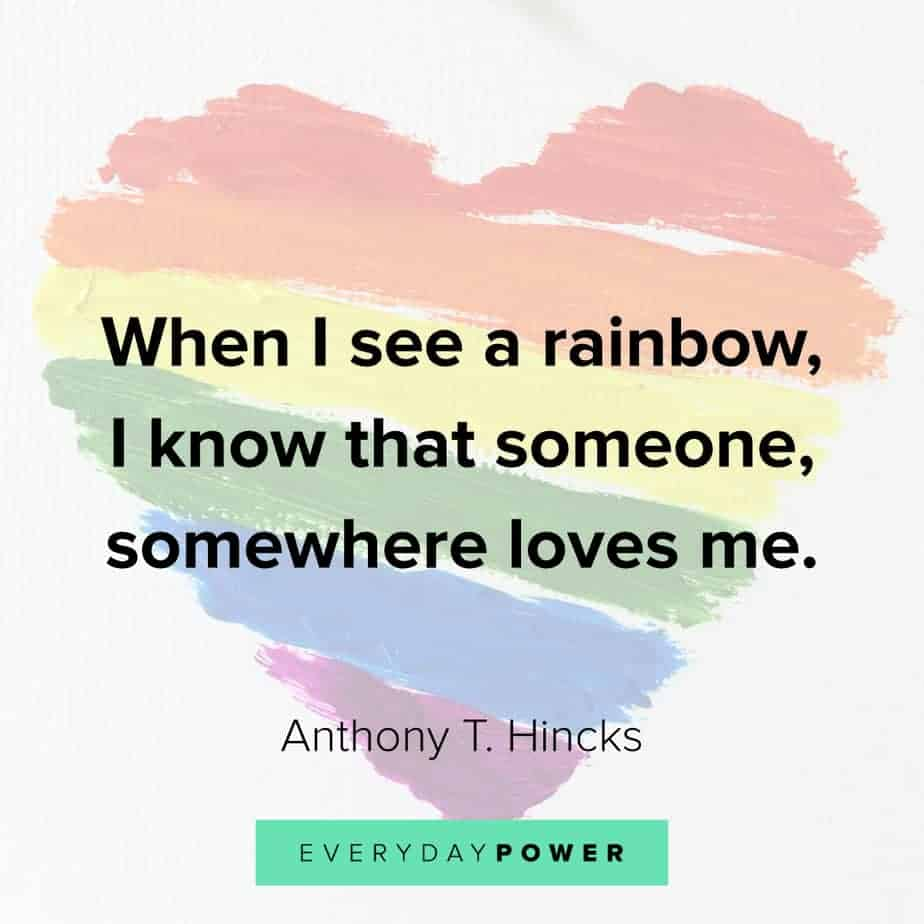 Rainbow quotes about love