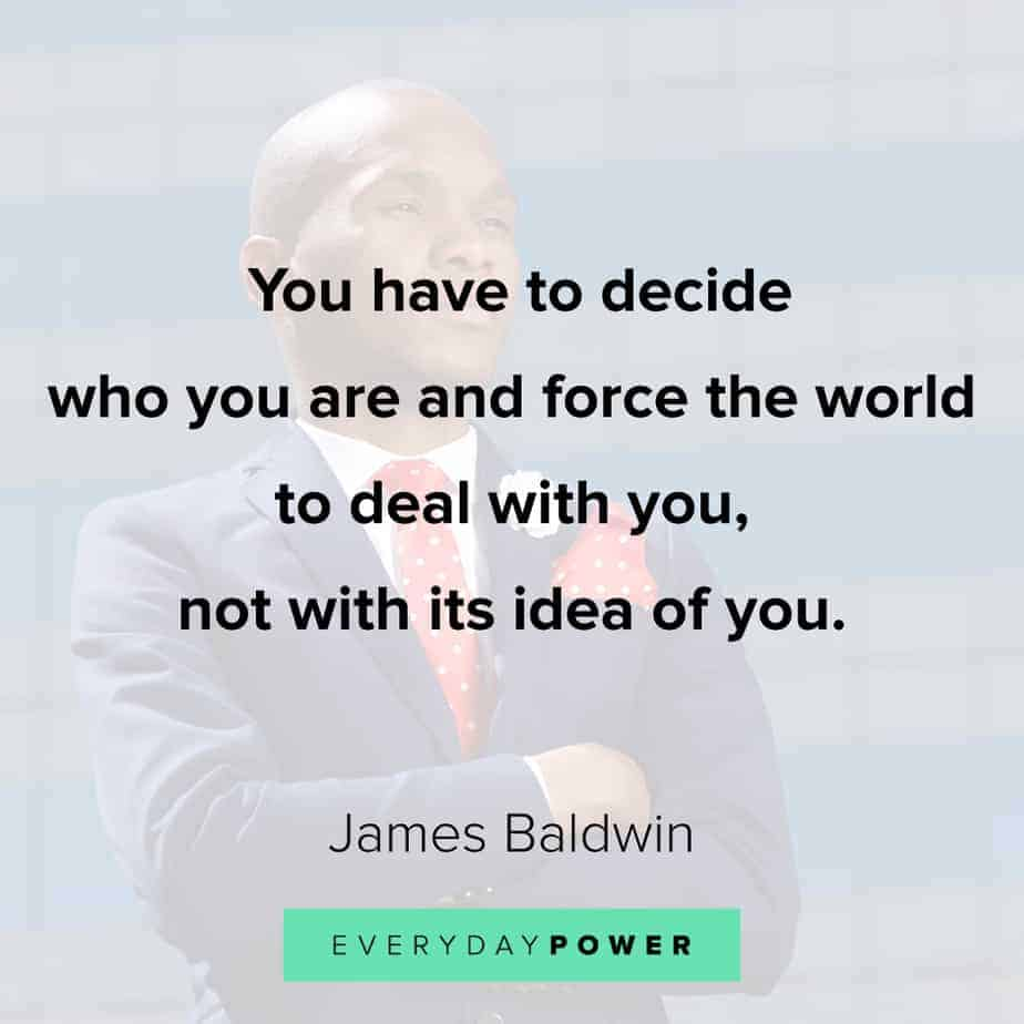 James Baldwin quotes on the world