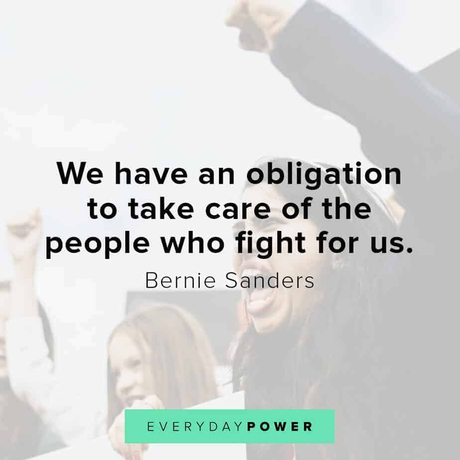 Bernie Sanders quotes on our obligations