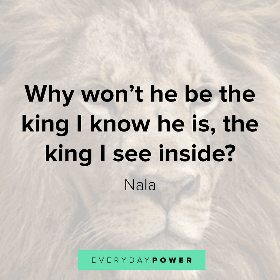 lion king quotes on being who you are