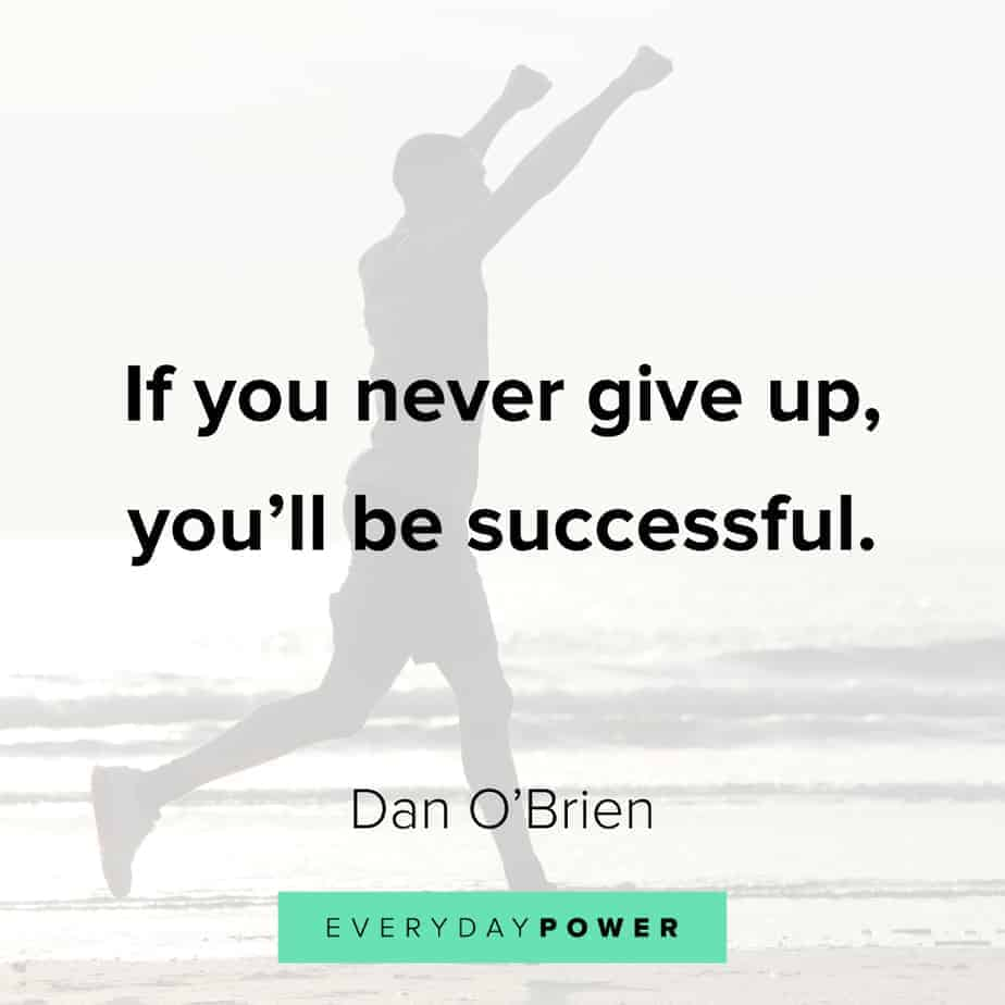 quotes about not giving up until you win