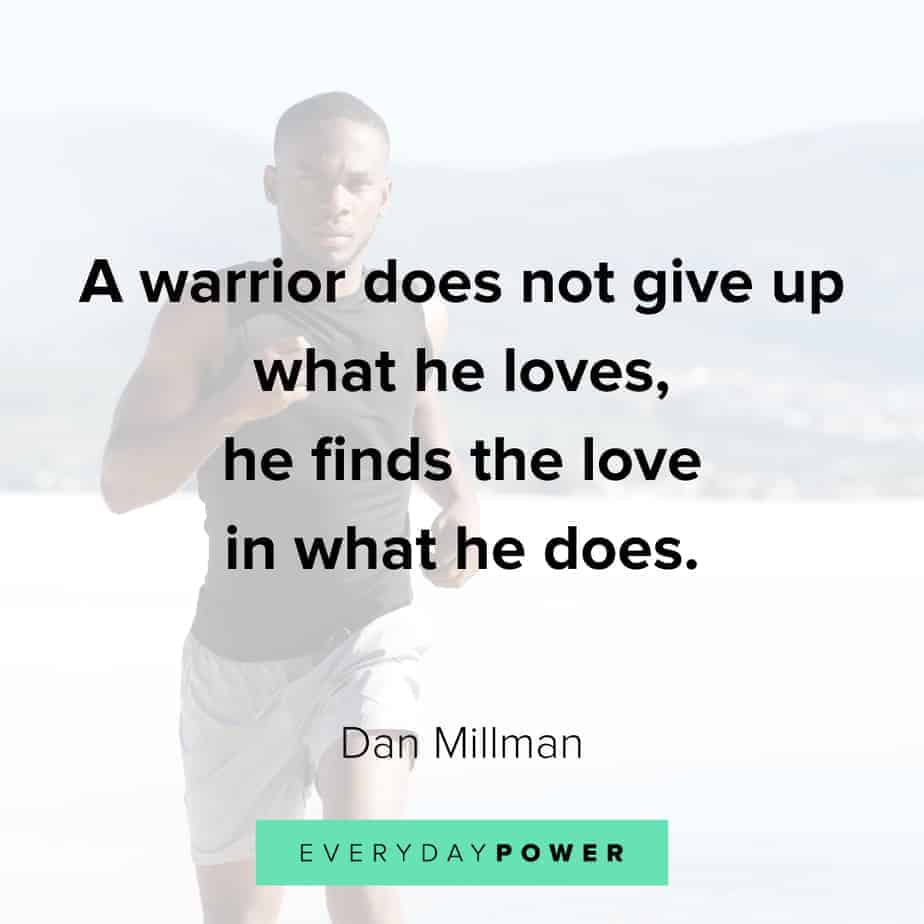 warrior quotes about giving up