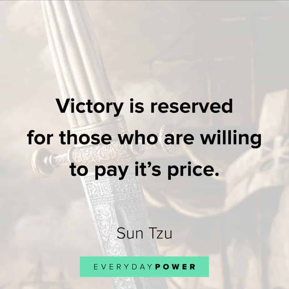 warrior quotes on paying the price for victory