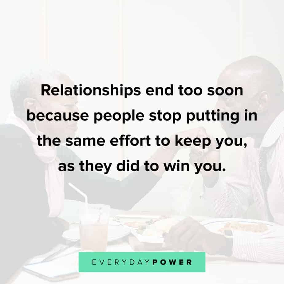 great Relationship Quotes about putting in the effort
