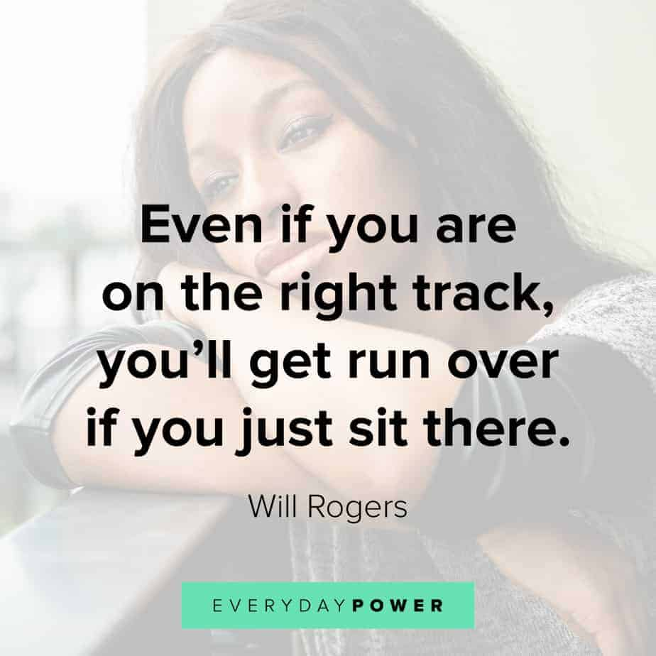 Wednesday Quotes about being on track